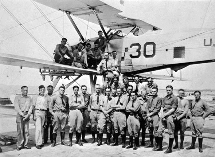 Upon entry into World War I, Pensacola, still the only naval air station, had 38 naval aviators, 163 enlisted men trained in aviation and 54 airplanes.