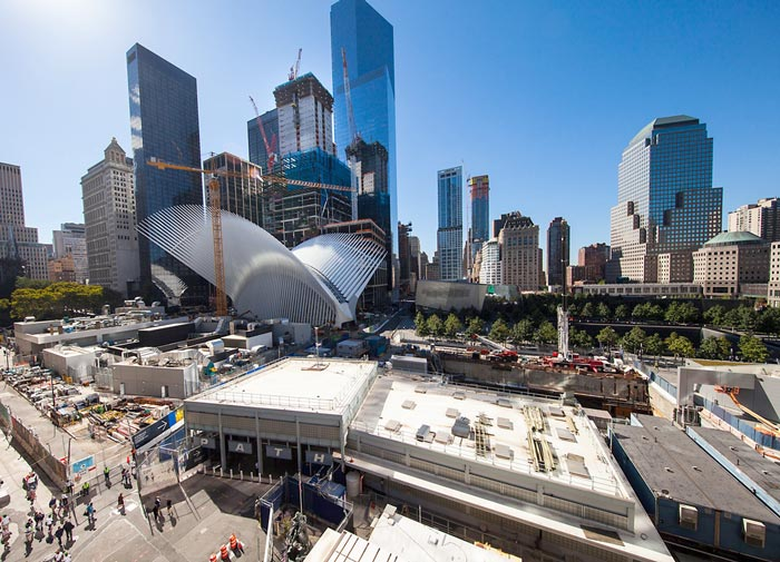 With exterior construction nearly finished, the Oculus makes for an eye-catching addition to the traditional architecture of Manhattan's skyscrapers.