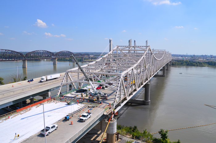 The Kennedy bridge is expected to partially open in October, and upon completion in December, there will be six southbound lanes.