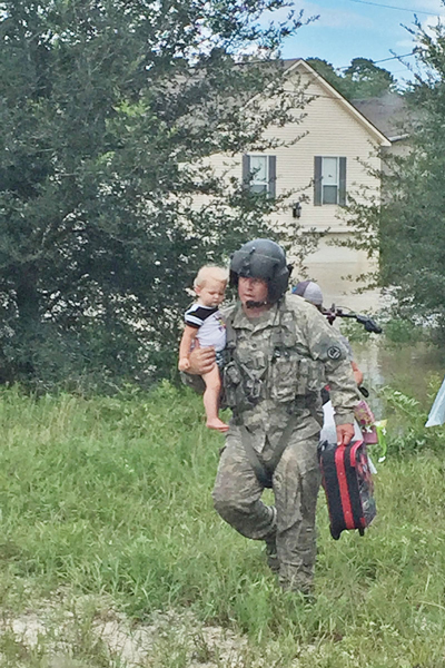 The National Guard rescued more than 19,000 people and 2,700 pets during the flooding.