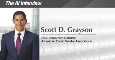 The A.I. Interview: Scott D. Grayson, CAE, Executive Director, American Public Works Assoc.