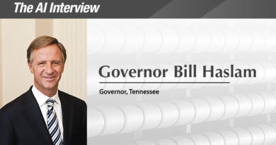 The A.I. Interview: Governor of the Year, Bill Haslam, Tennessee