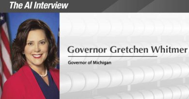 The A.I. Interview: Governor of the Year, Gretchen Whitmer, Michigan