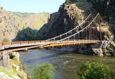 Deep Canyon Bridge Construction in Idaho